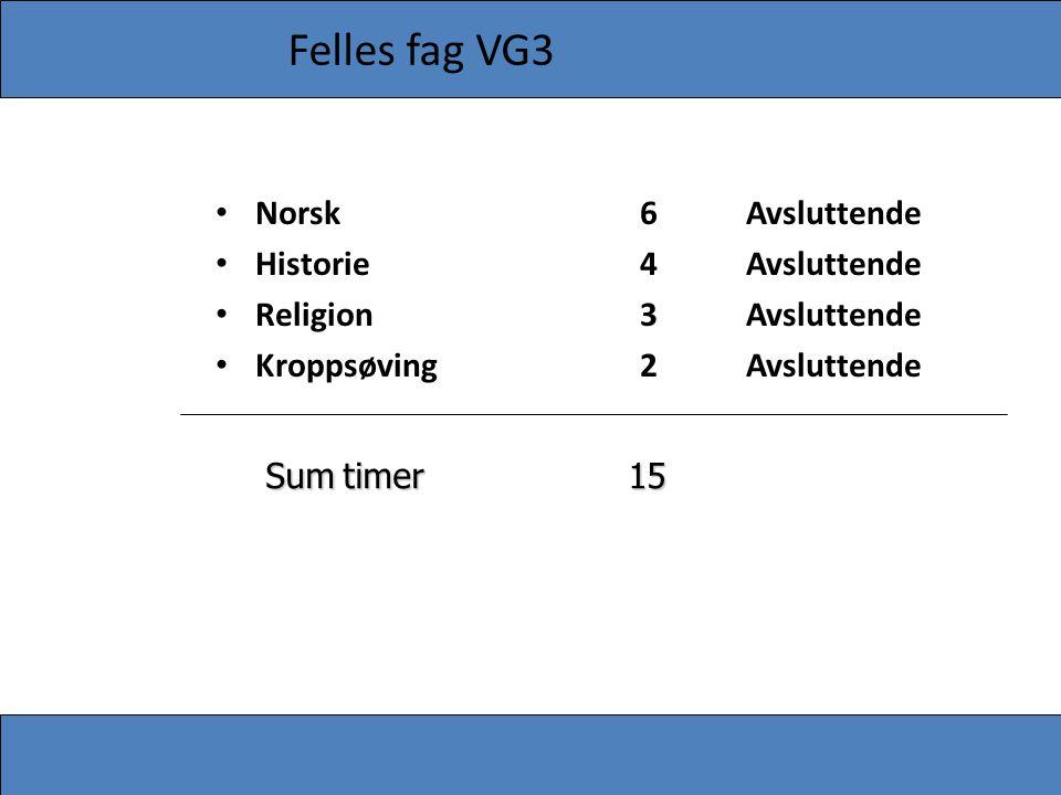 Felles fag VG3 Norsk 6 Avsluttende Historie 4 Avsluttende