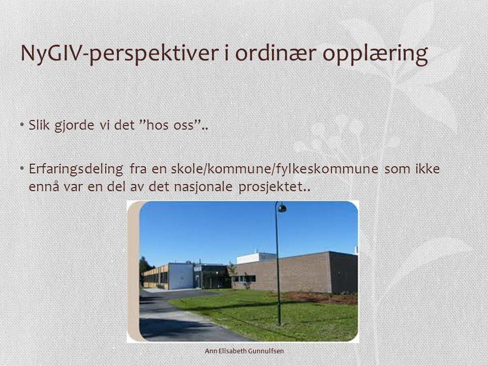 NyGIV-perspektiver i ordinær opplæring