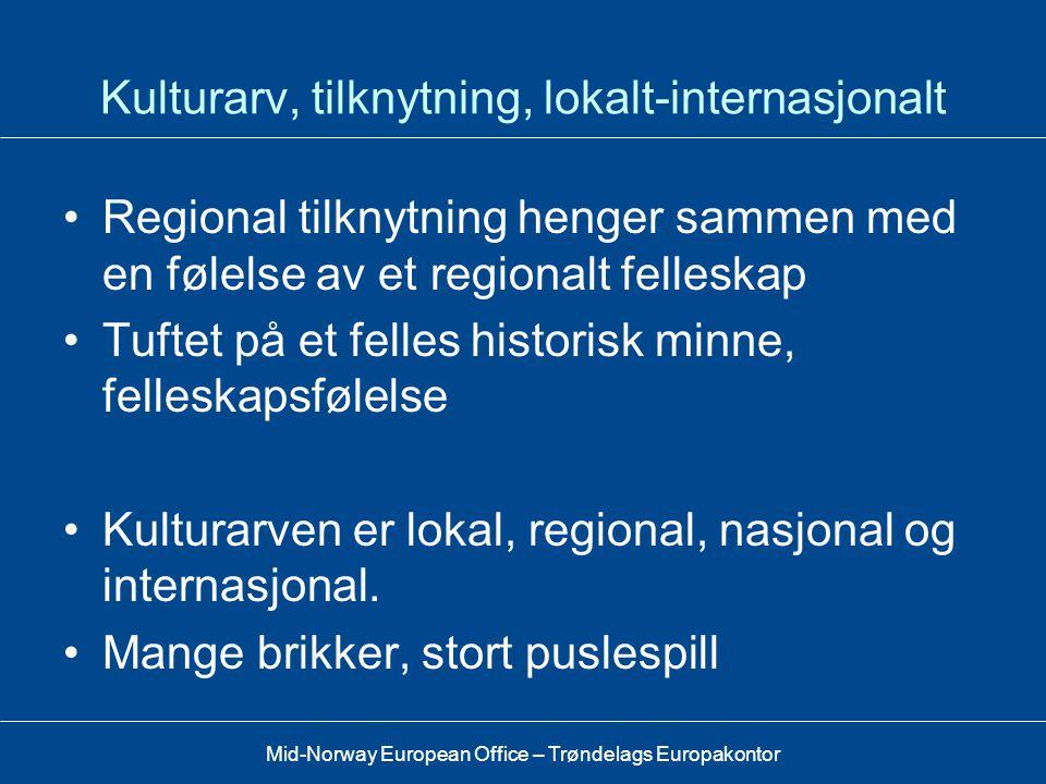 Kulturarv, tilknytning, lokalt-internasjonalt