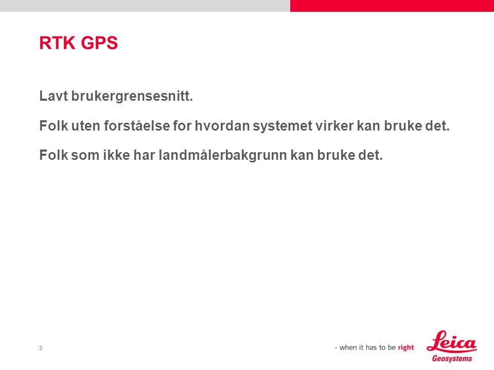 RTK GPS Lavt brukergrensesnitt.