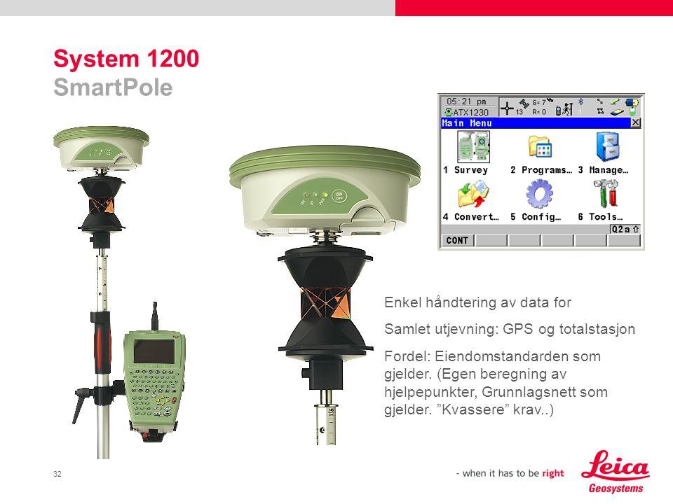 System 1200 SmartPole Enkel håndtering av data for