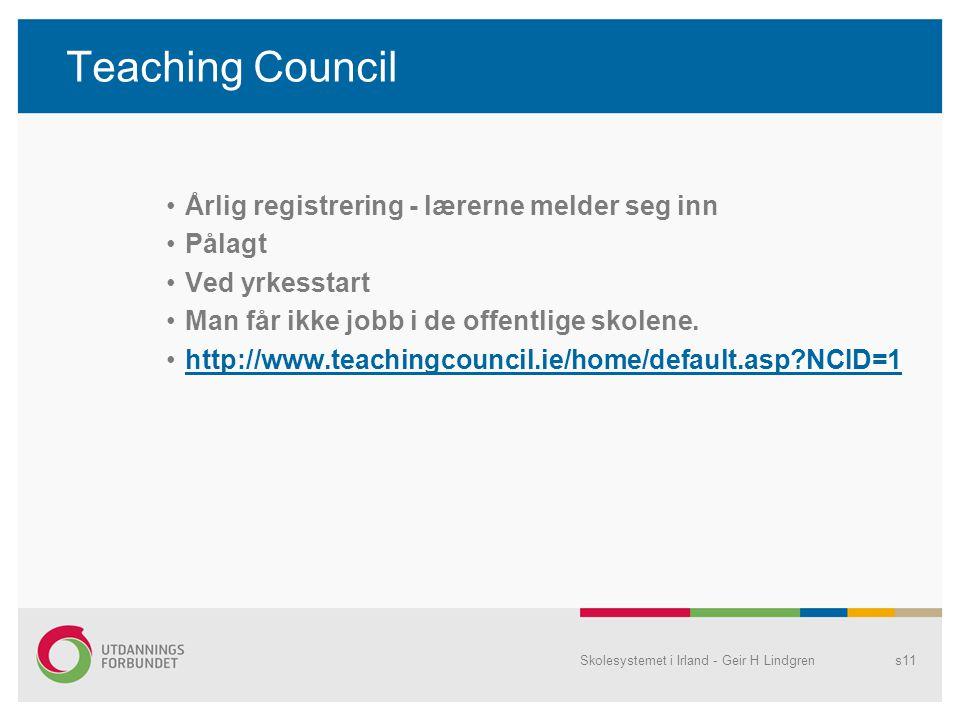 Teaching Council Årlig registrering - lærerne melder seg inn Pålagt
