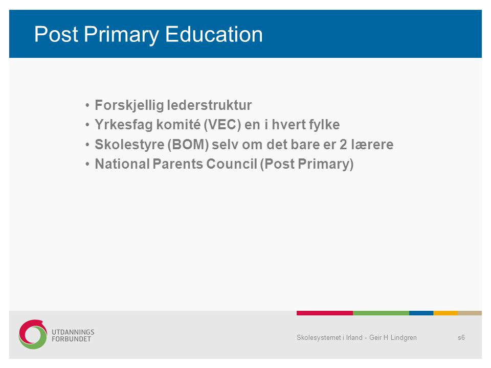 Post Primary Education