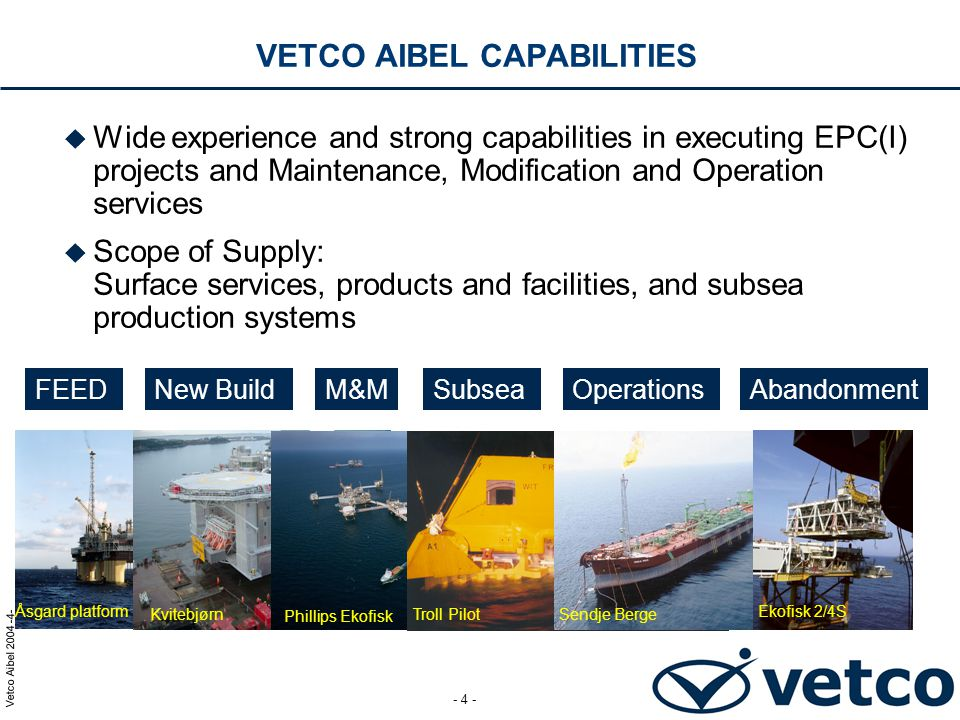 VETCO AIBEL CAPABILITIES