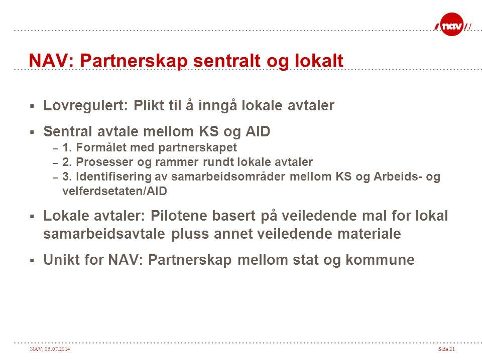 NAV: Partnerskap sentralt og lokalt