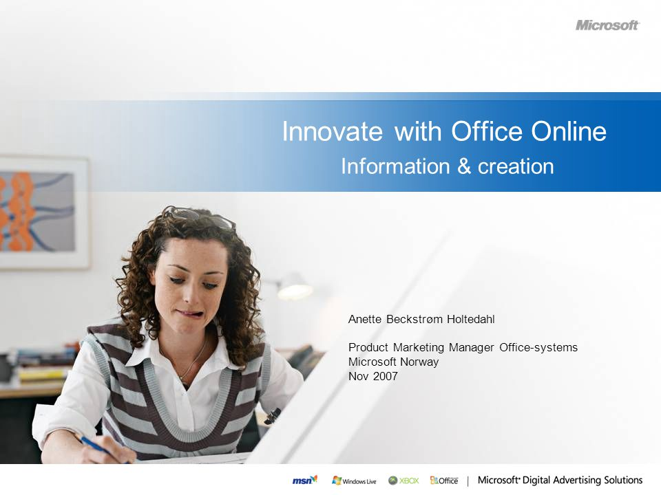 Innovate with Office Online Information & creation