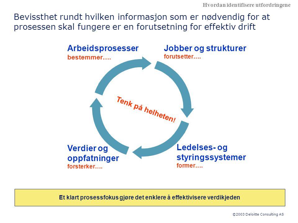 Et klart prosessfokus gjøre det enklere å effektivisere verdikjeden
