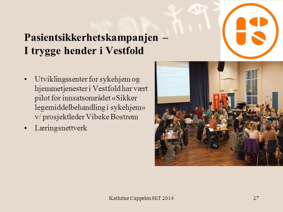 Pasientsikkerhetskampanjen – I trygge hender i Vestfold