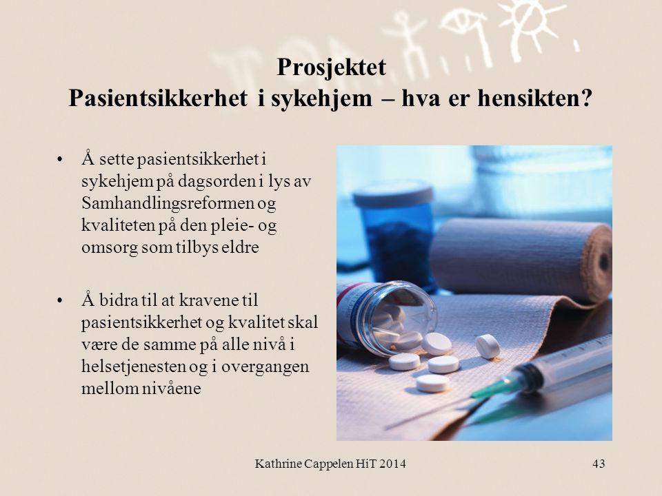 Prosjektet Pasientsikkerhet i sykehjem – hva er hensikten