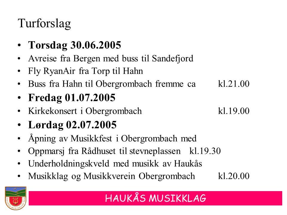Turforslag Torsdag 30.06.2005 Fredag 01.07.2005 Lørdag 02.07.2005