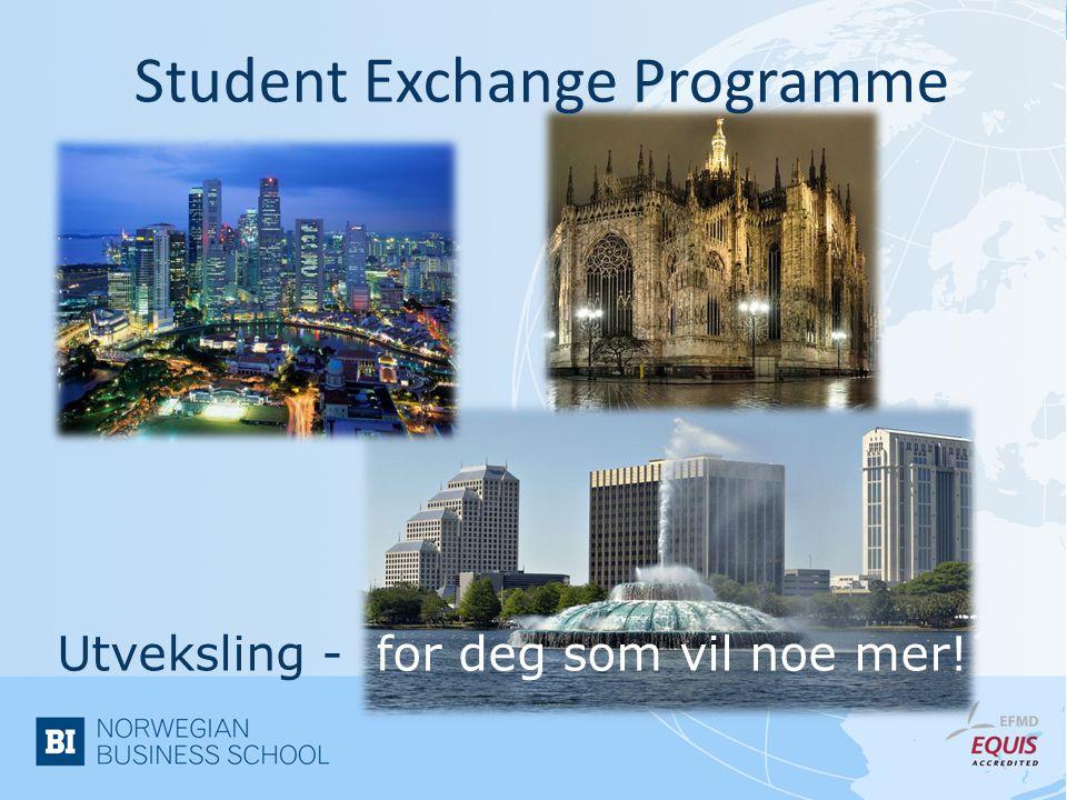 Student Exchange Programme
