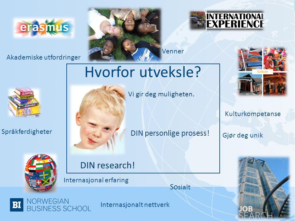 Hvorfor utveksle DIN research! DIN personlige prosess! Sosialt Venner