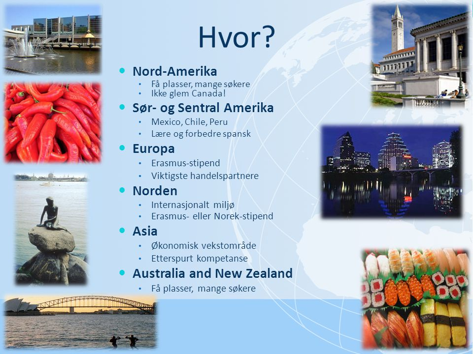 Hvor Nord-Amerika Sør- og Sentral Amerika Europa Norden Asia