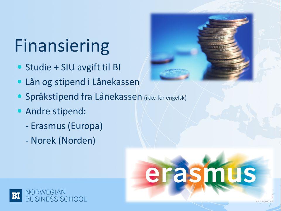 Finansiering Studie + SIU avgift til BI Lån og stipend i Lånekassen