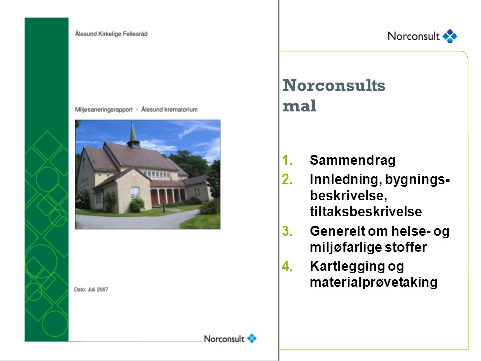 Norconsults mal Sammendrag