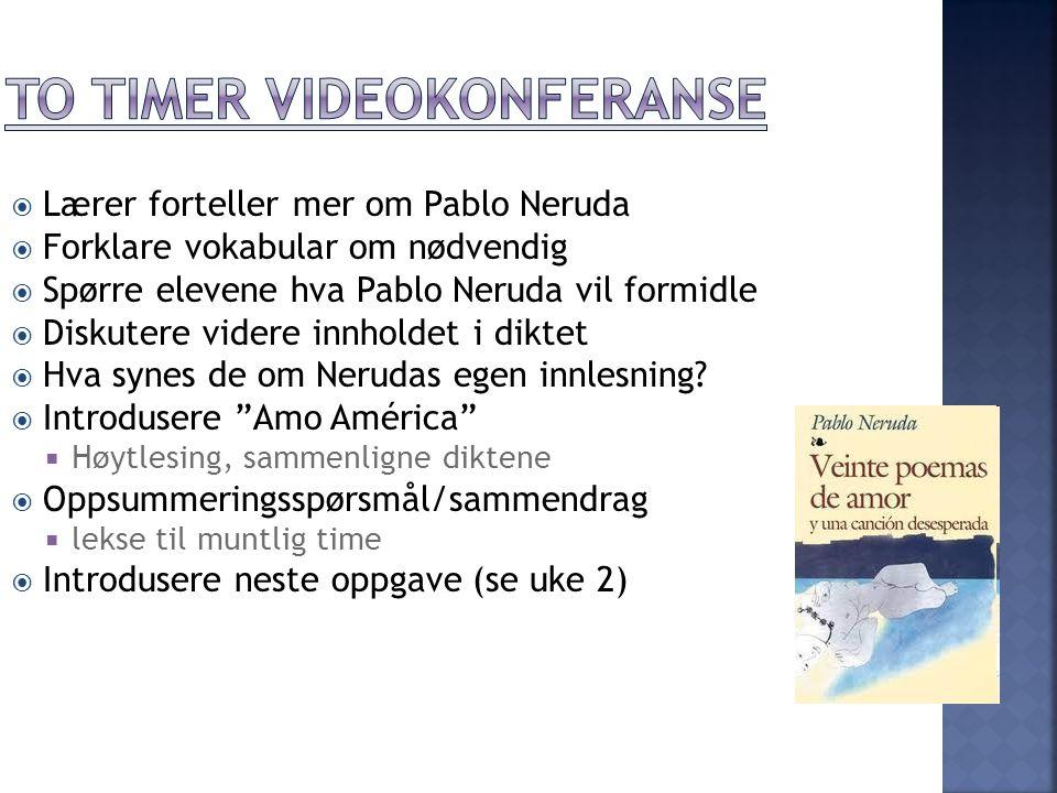 To timer videokonferanse