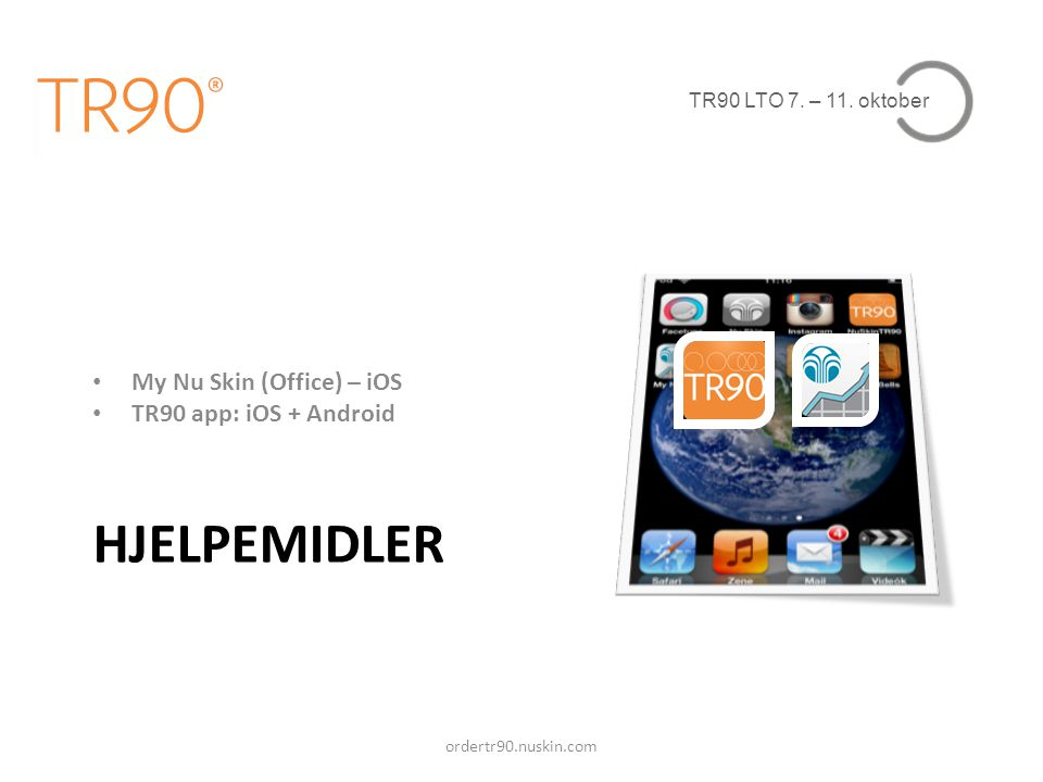 HJELPEMIDLER My Nu Skin (Office) – iOS TR90 app: iOS + Android