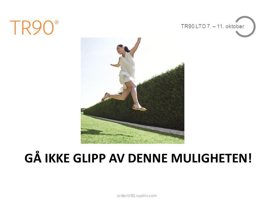 GÅ IKKE GLIPP AV DENNE MULIGHETEN!