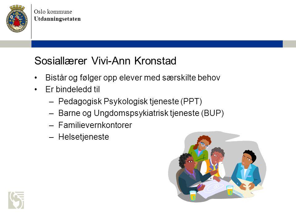 Sosiallærer Vivi-Ann Kronstad
