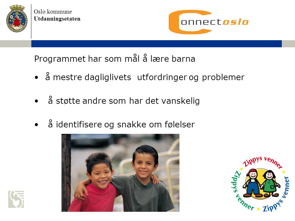 Programmet har som mål å lære barna