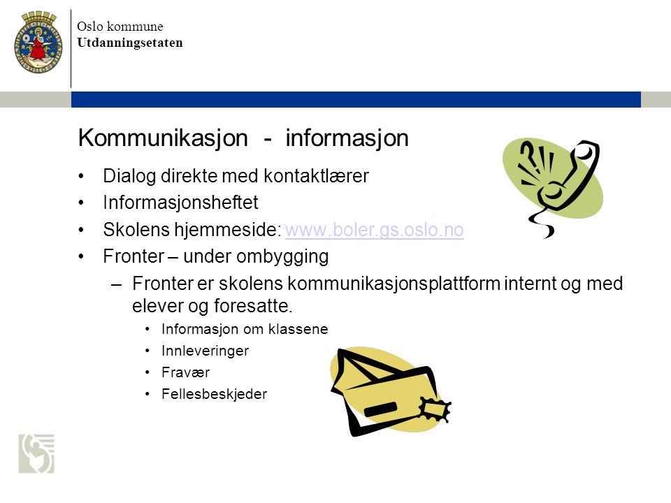 Kommunikasjon - informasjon