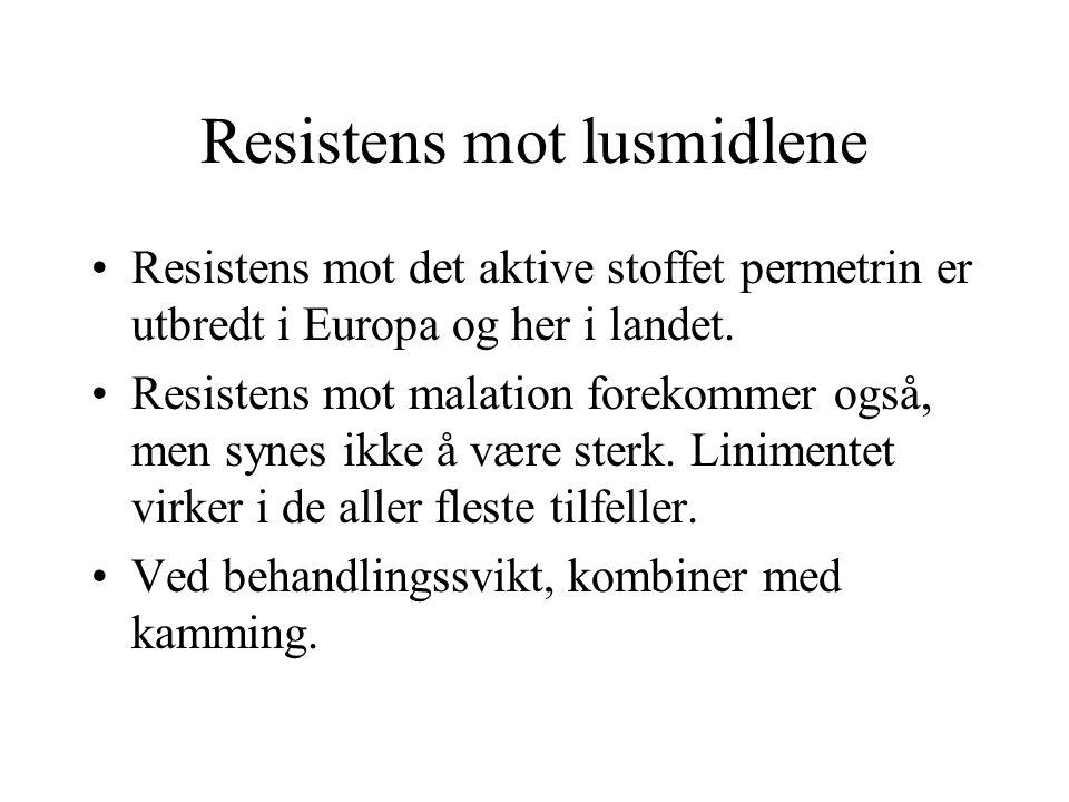 Resistens mot lusmidlene