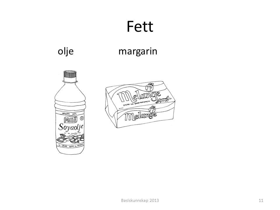 Fett olje margarin Basiskunnskap 2013