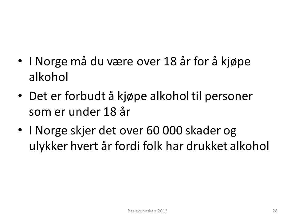 I Norge må du være over 18 år for å kjøpe alkohol