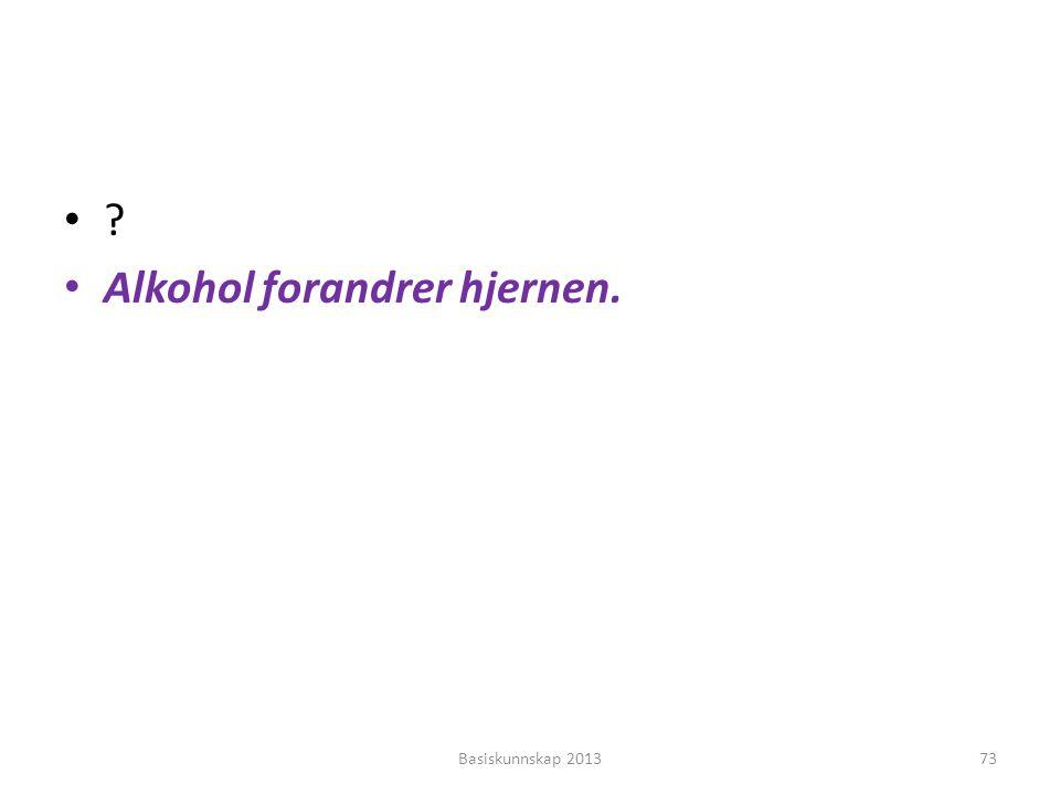Alkohol forandrer hjernen.