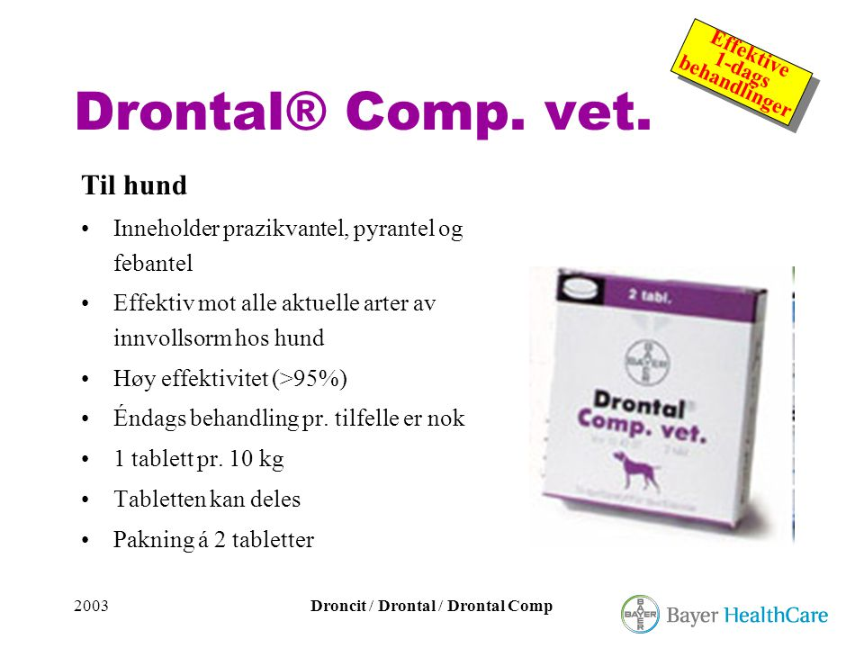 Drontal® Comp. vet. Til hund