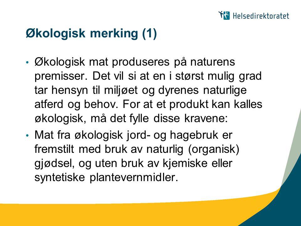 Økologisk merking (1)