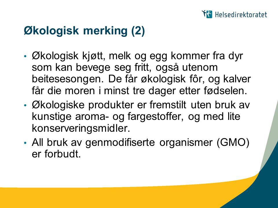 Økologisk merking (2)