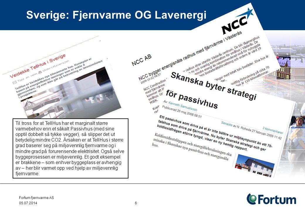 Sverige: Fjernvarme OG Lavenergi