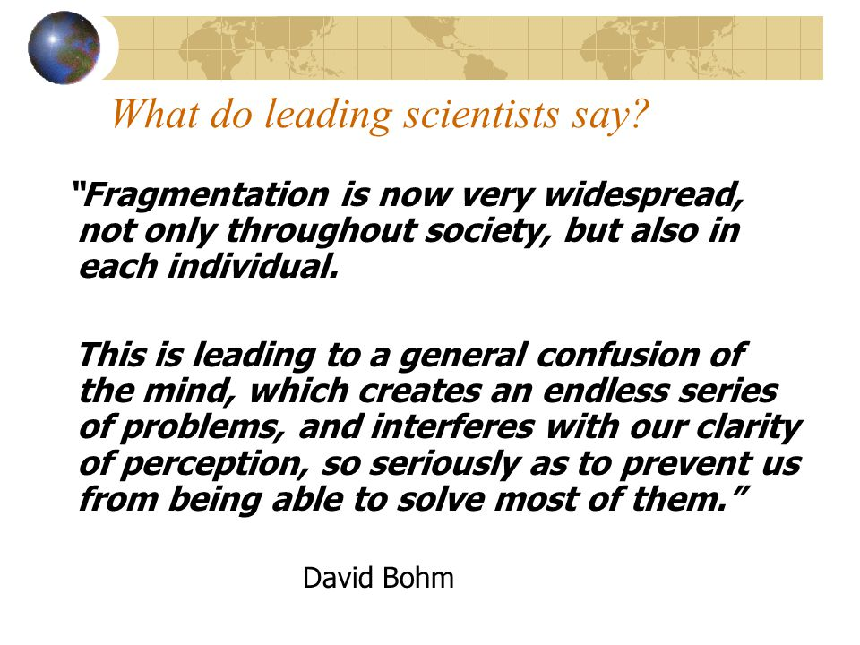What do leading scientists say