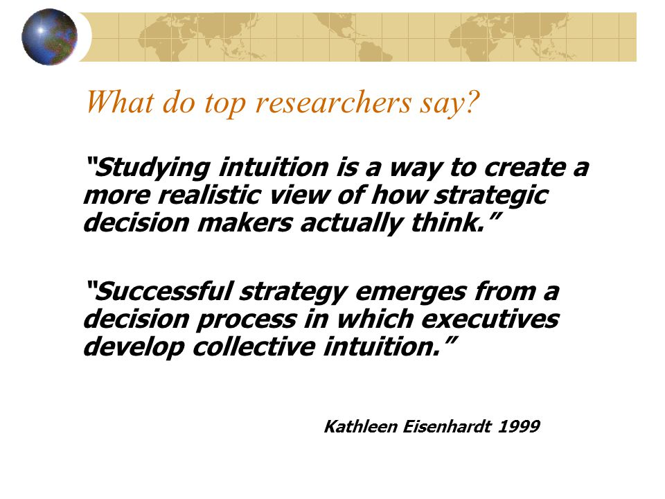 What do top researchers say