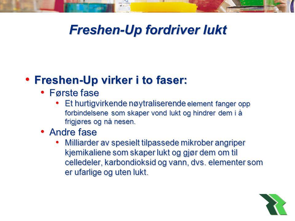 Freshen-Up fordriver lukt