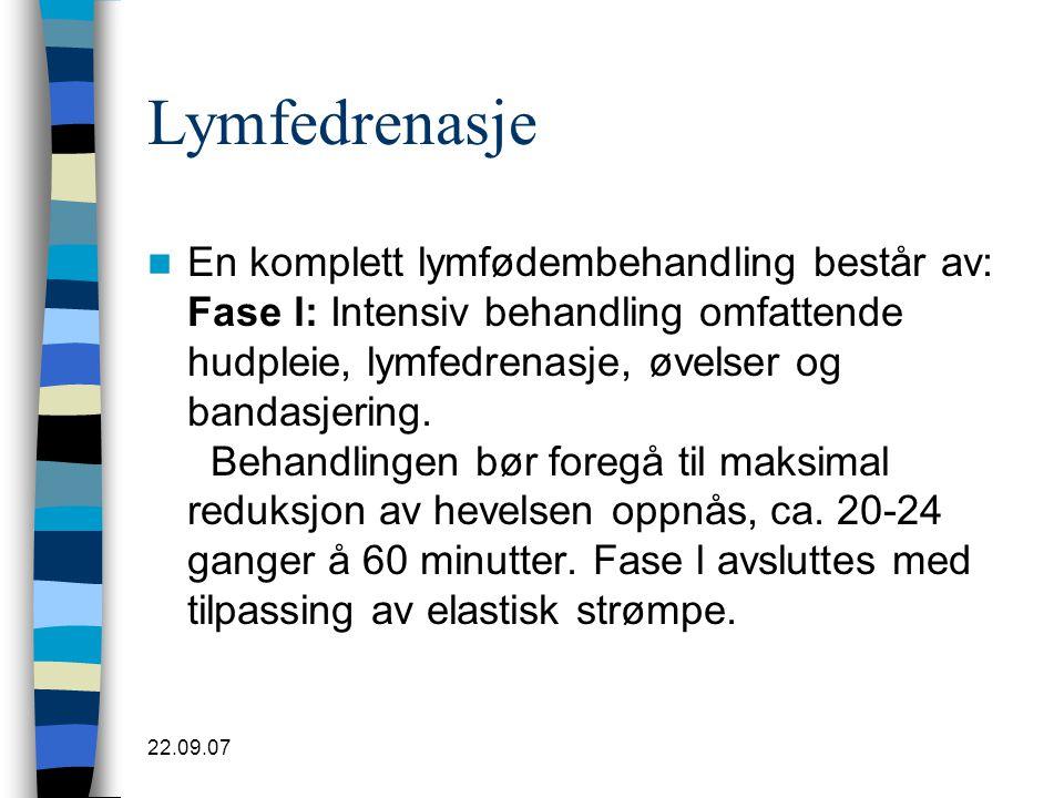 Lymfedrenasje