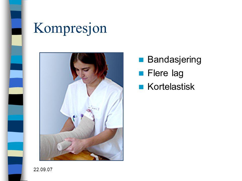 Kompresjon Bandasjering Flere lag Kortelastisk 22.09.07