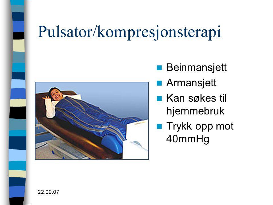 Pulsator/kompresjonsterapi