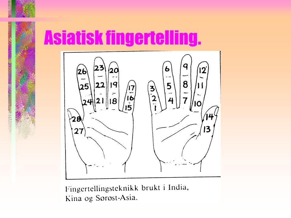 Asiatisk fingertelling.