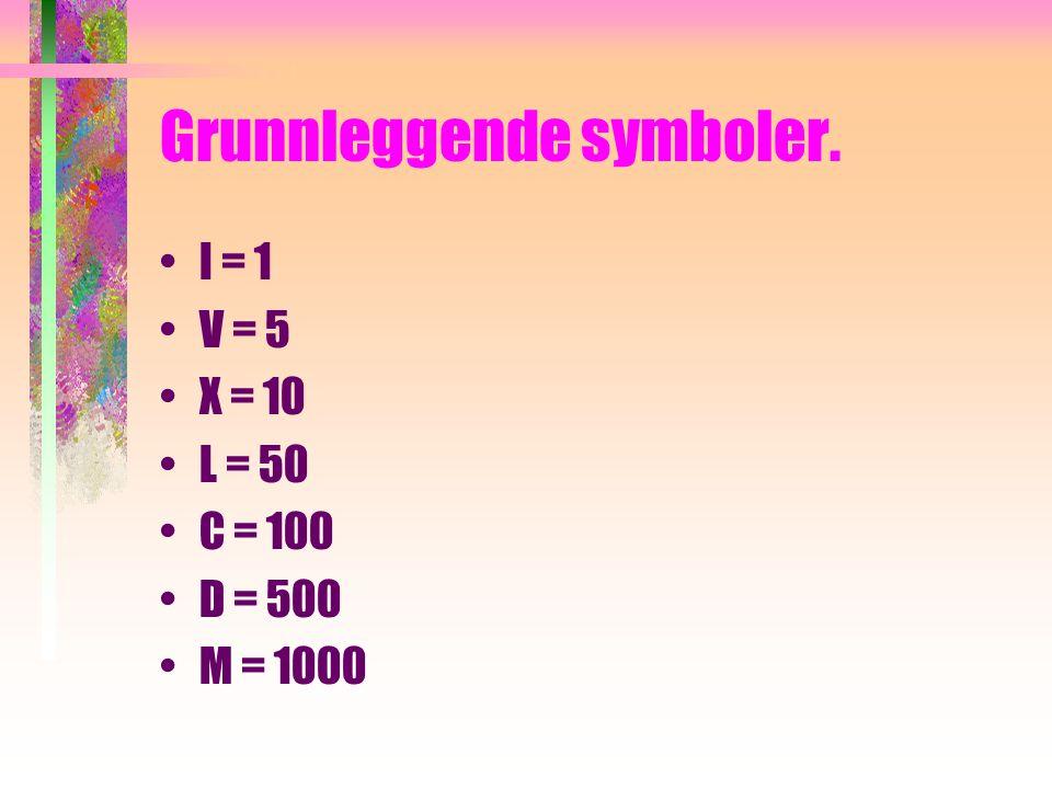 Grunnleggende symboler.