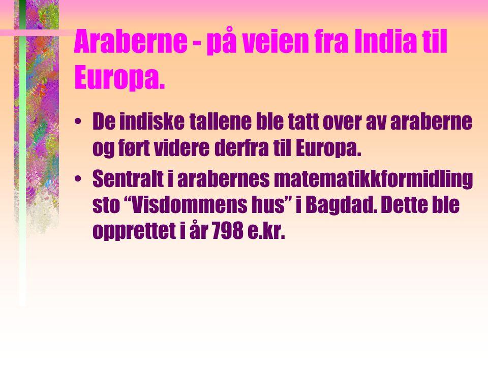 Araberne - på veien fra India til Europa.