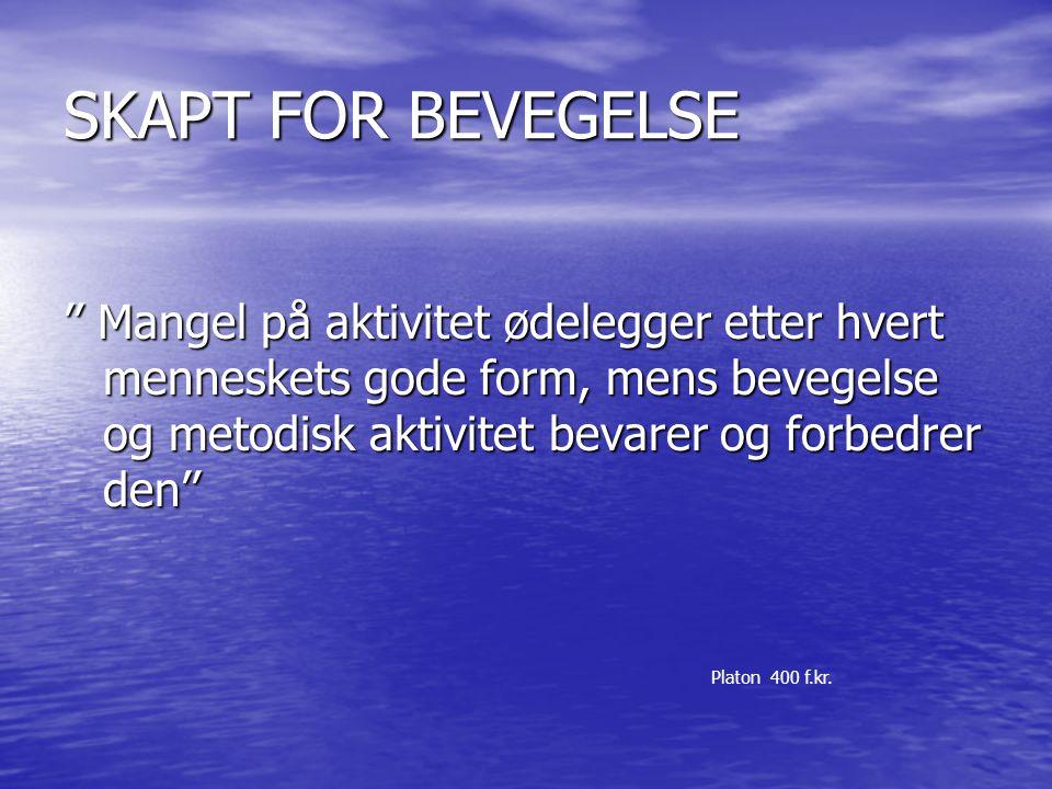SKAPT FOR BEVEGELSE