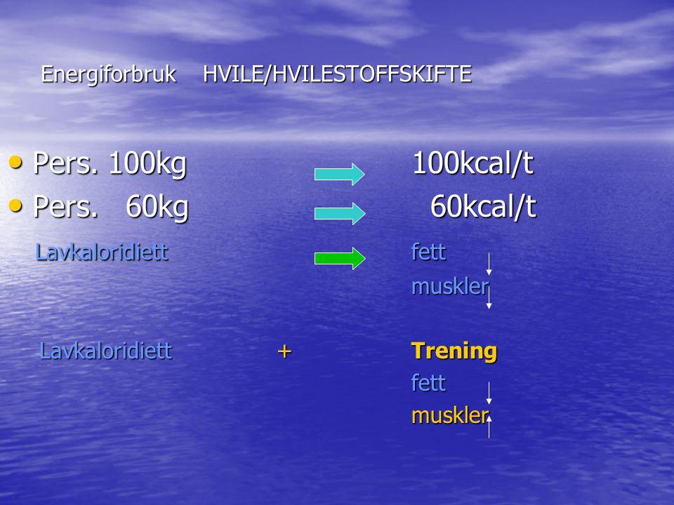 Energiforbruk HVILE/HVILESTOFFSKIFTE