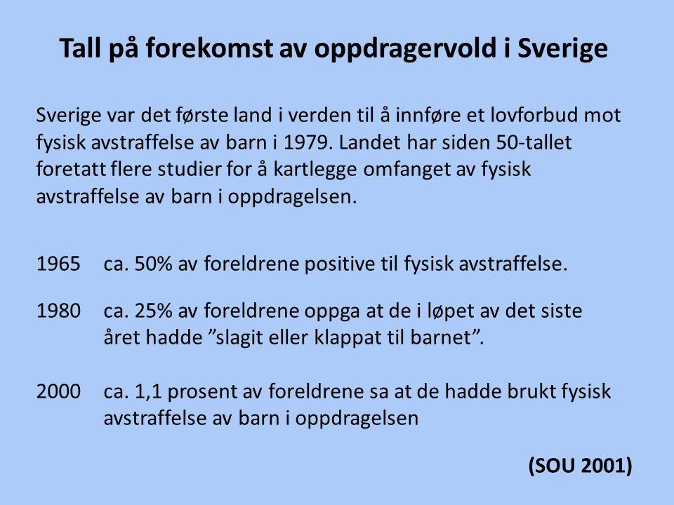 Tall på forekomst av oppdragervold i Sverige