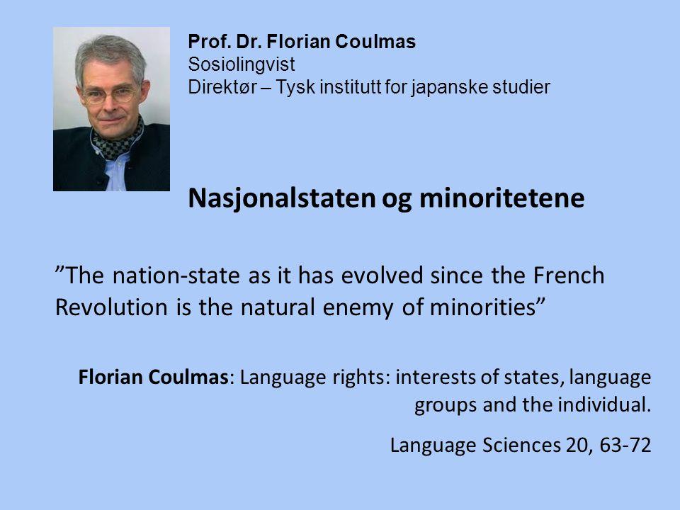 Nasjonalstaten og minoritetene