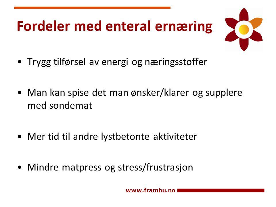 Fordeler med enteral ernæring