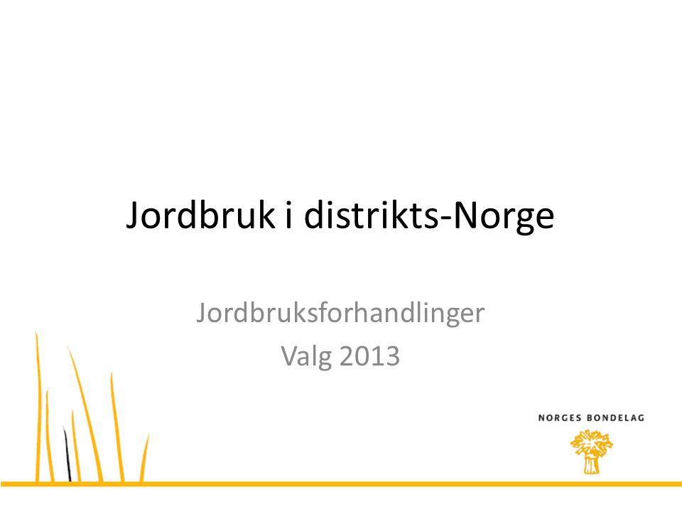 Jordbruk i distrikts-Norge
