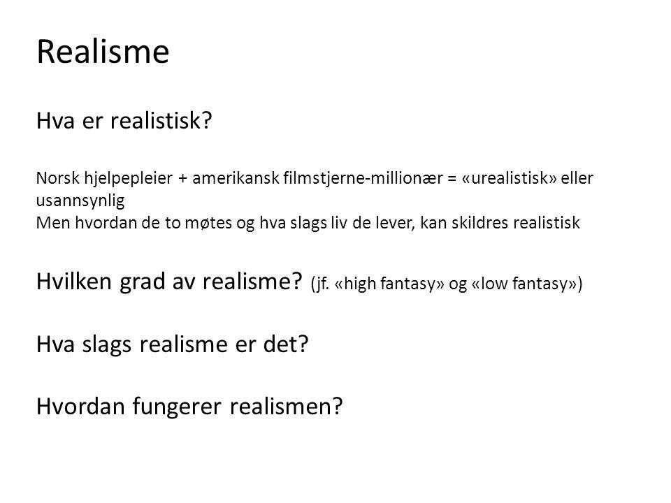 Realisme Hva er realistisk
