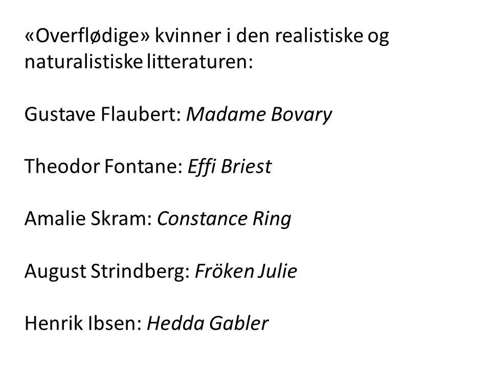 «Overflødige» kvinner i den realistiske og naturalistiske litteraturen: